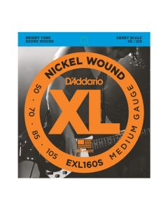 D'Addario EXL160S Nickel Wound Bass Strings, Medium, 50-105, Short Scale